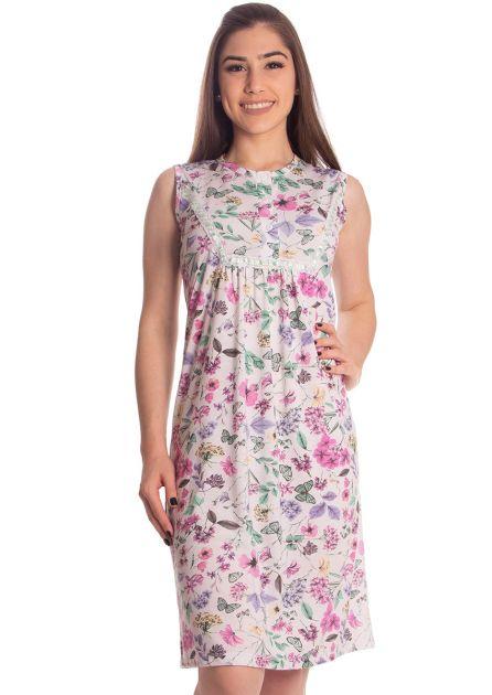 Camisola Feminina Plus Size Cavada Malha Estampa Variável Ana Maria