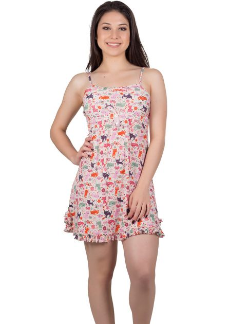 Camisola Feminina Plus Size Liganete Bichinhos Adoráveis