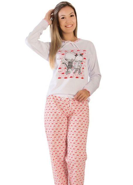 Pijama Feminino Flanelado Pamela