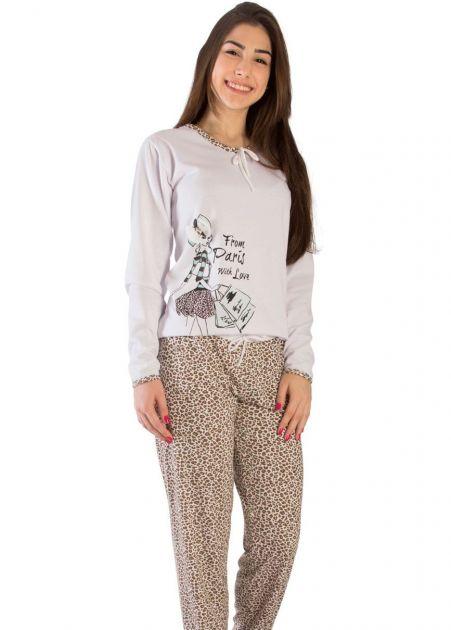 Pijama Feminino Flanelado Paris