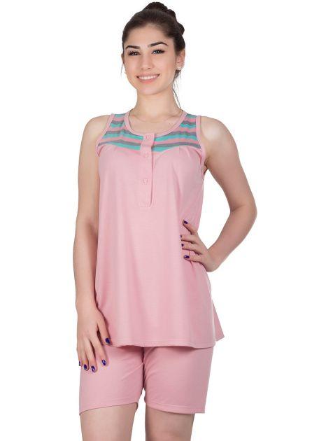 Pijama Feminino Gestante Malha Lisa Maju