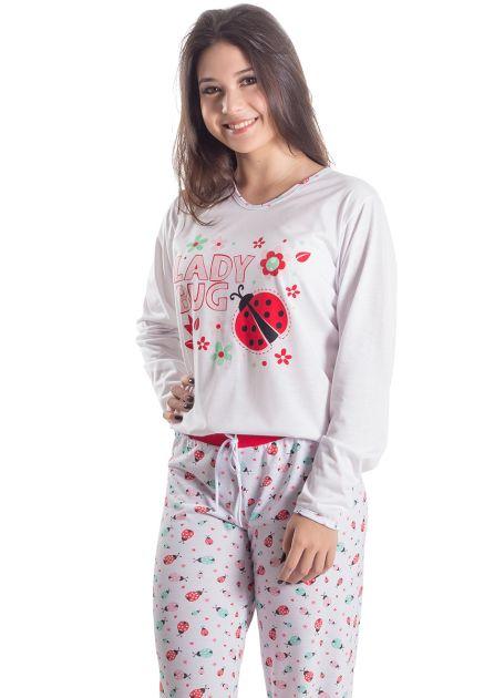 Pijama Feminino Longo Lady Bug