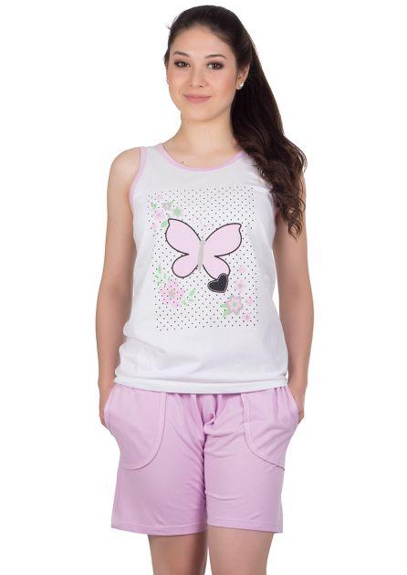 Pijama Feminino Plus Size Algodão Liso Estampa Papion