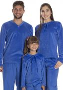 Pijama Feminino Plus Size Longo Mãe e Filha Plush Clássico