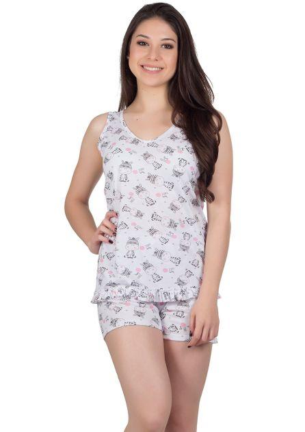 Pijama Feminino Plus Size Malha Variada Elisa