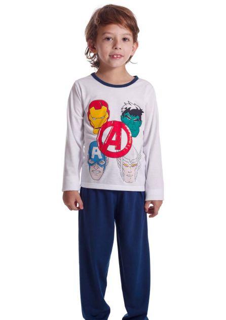 Pijama Infantil Menino Malha Poliviscose Vingadores