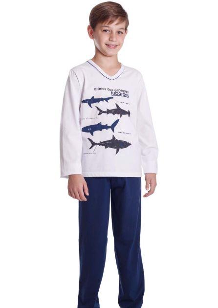 Pijama Infantil Menino Tubarões