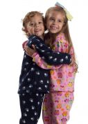 Pijama Infantil Microsoft Estampas Variadas Fofurinha