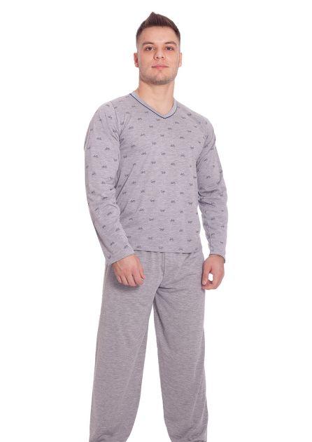 Pijama Masculino Longo Pai e Filho Calça Lisa Blusa Estampada