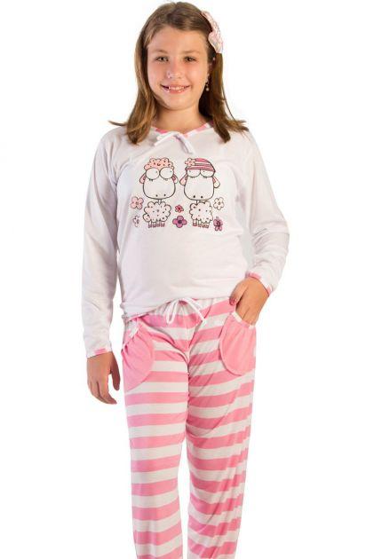 Pijama Menina Carneirinhos