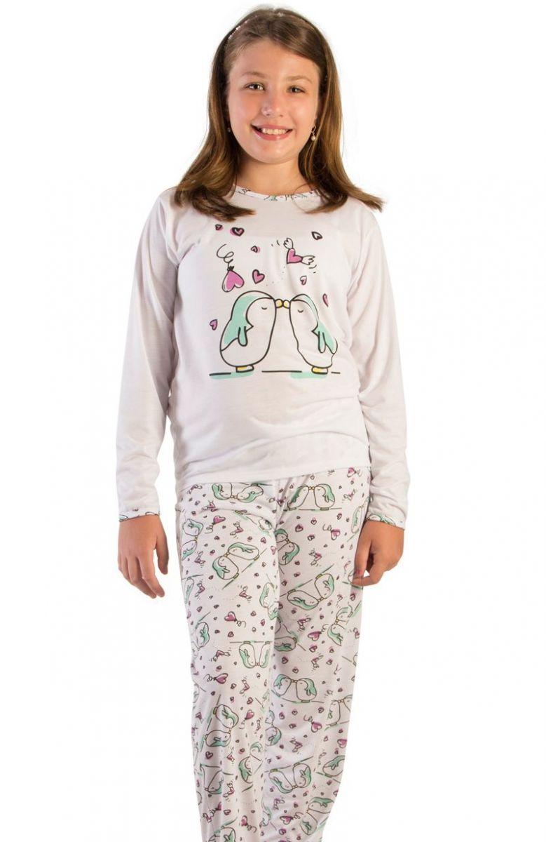 9d75ab31d670 Pijama Menina Esmeralda Mini na Amora Doce