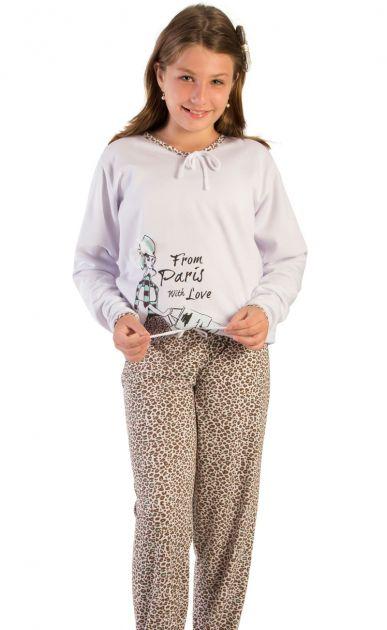 Pijama Menina Flanelado Paris