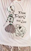 Pijama Menina Love Paris