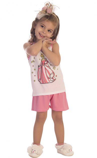 Pijama Menina Princesa Cinderela