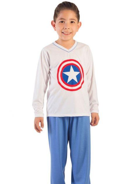 Pijama Menino Capitão América Baby
