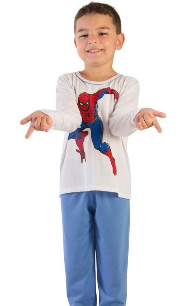 Pijama Menino Flanelado Homem Aranha