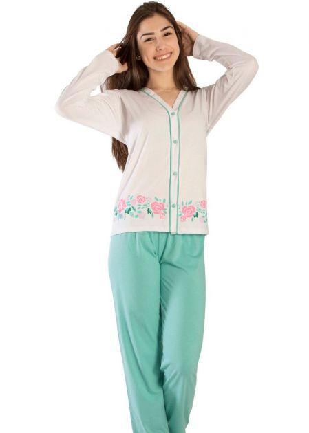 Pijama Plus Size Feminino Ágata Verde