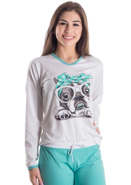 Pijama Plus Size Feminino Longo Au Au
