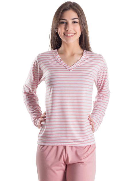 Pijama Plus Size Feminino Longo Ellena