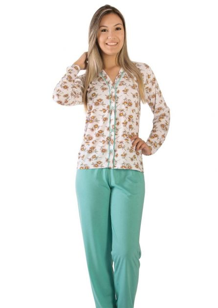 Pijama Plus Size Feminino Pérola