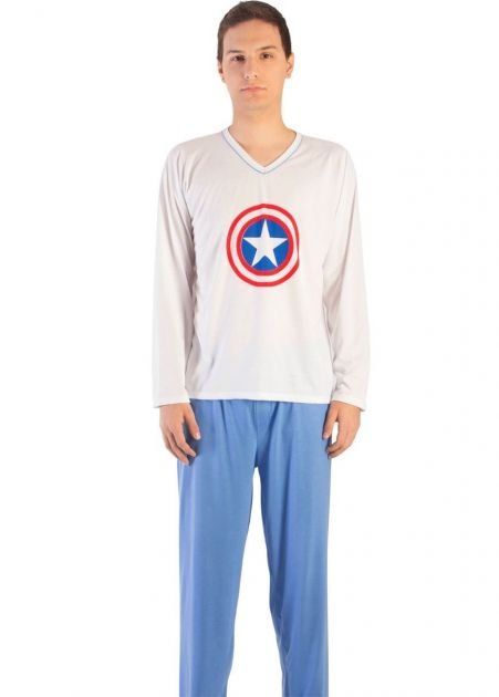 Pijama Plus Size Masculino Capitão América