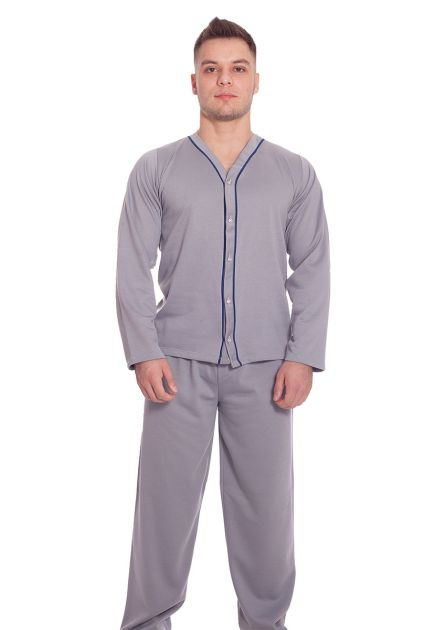 Pijama Plus Size Masculino Flanelado Longo Edu