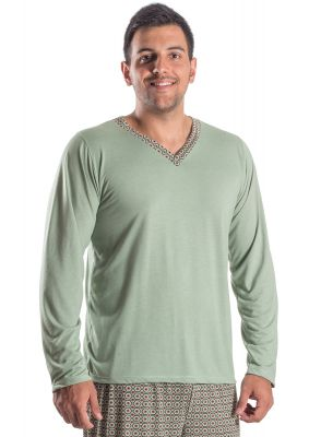Pijama Plus Size Masculino Longo Sun