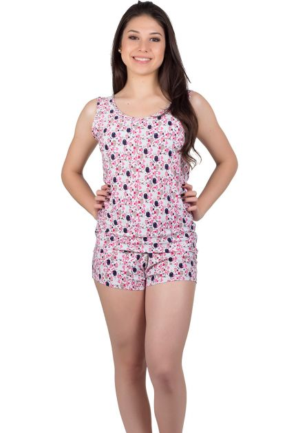 Short Doll Feminino Liganete Passarinhos Luna