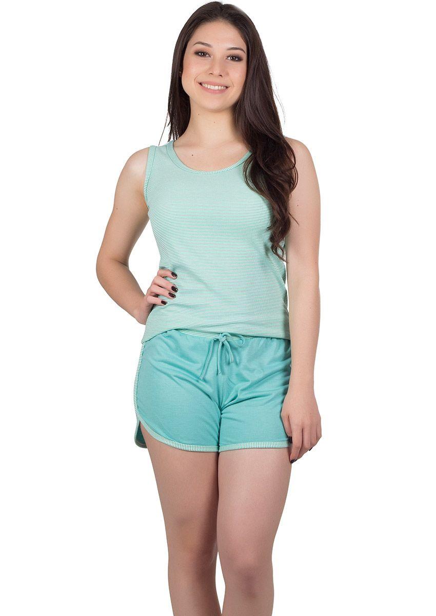 c40eb6d79 Short Doll Feminino Plus Size Canelado Brenda na Amora Doce