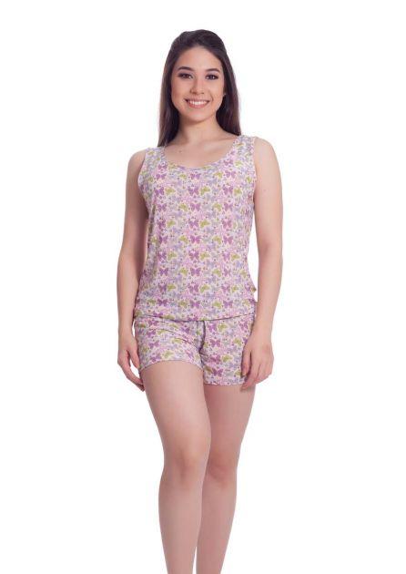 Short Doll Feminino Plus Size Liganete Poliester Estampado