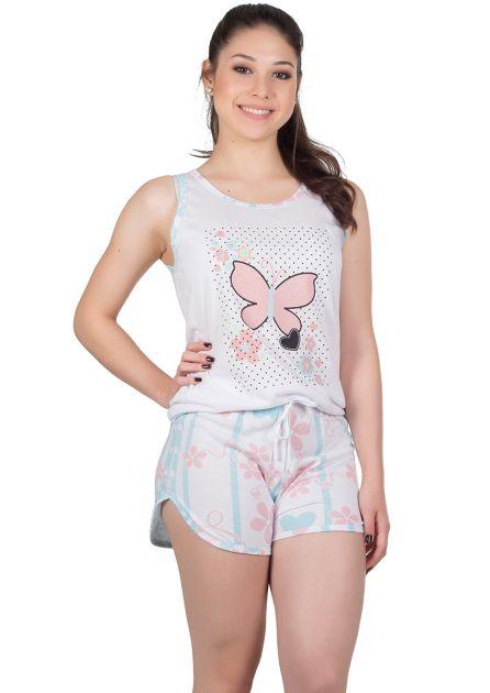 Short Doll Feminino Plus Size Malha Estampada Lala