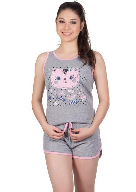 Short Doll Feminino Plus Size Malha Mescla Andressa