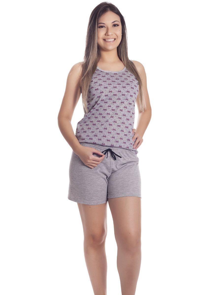 71f28fad3 Short Doll Feminino Plus Size Malha Poliviscose com Blusa Regata e Bermuda  Love Photos
