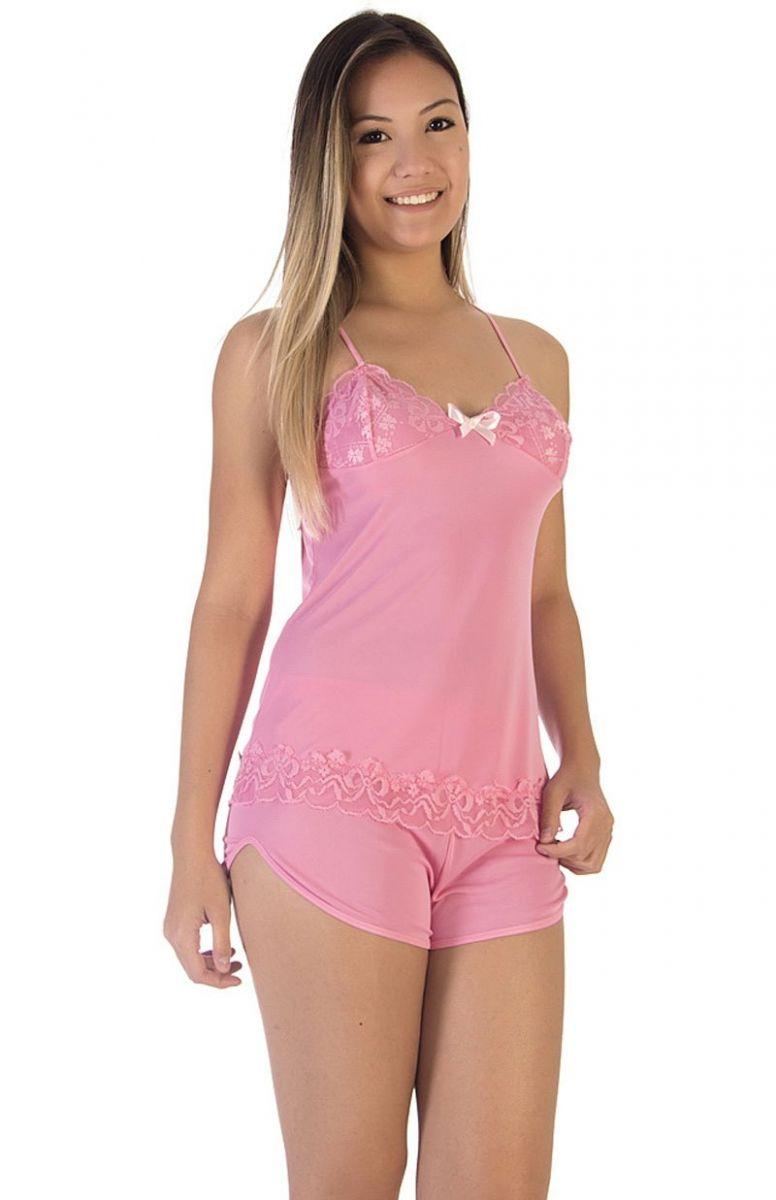 514544e4b Short Doll Plus Size Flor de Lis na Amora Doce